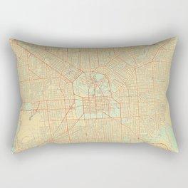 Adelaide Map Retro Rectangular Pillow