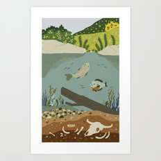 Cane Creek Art Print