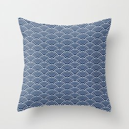 Seigaiha // Japanese Collection Throw Pillow