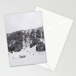 White Winterscapes III Stationery Cards