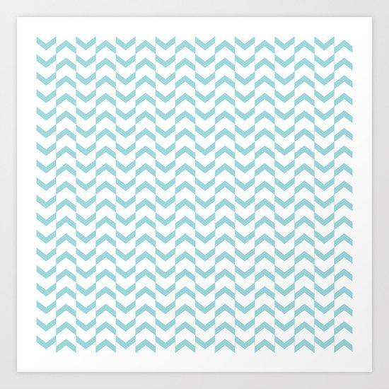 Limpet shell chevron  Art Print