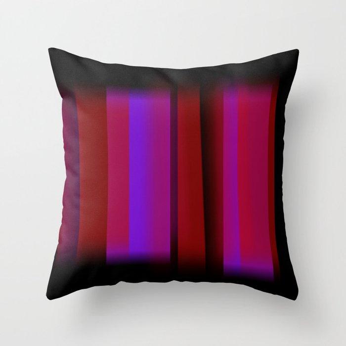 Vertical Blur 4 Throw Pillow