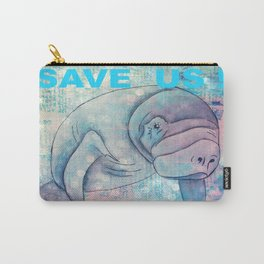 Whimiscal Manatee Carry-All Pouch