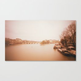 Seine Boats Canvas Print