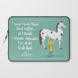 Motivational Pippi Laptop Sleeve