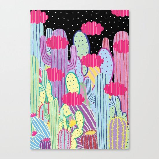 Cactus Party Canvas Print