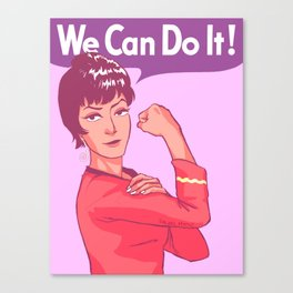 UHURA: WE CAN DO IT! (Pastel) Canvas Print
