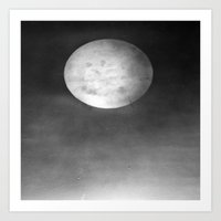 dark side of the moon Art Prints featuring DARK SIDE OF THE MOON by ..........