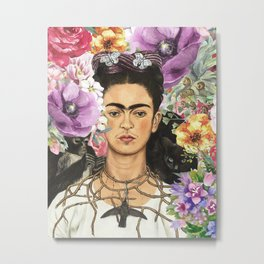 Frida Flower abstract Metal Print