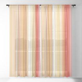 Yellow Orange Ray Stripes Sheer Curtain