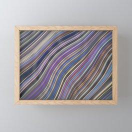 Wild Wavy Lines 12 Framed Mini Art Print