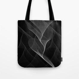 Black and White Flux #minimalist #homedecor #generativeart Tote Bag
