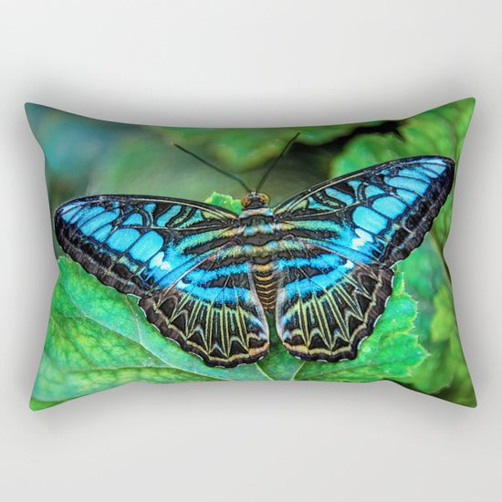 BUTTERFLY BLUE Rectangular Pillow