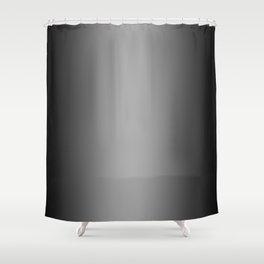 Black to White Vertical Bilinear Gradient Shower Curtain