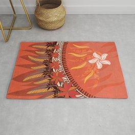 Mauna Kea Hawaiian Sun Tribal Print Rug
