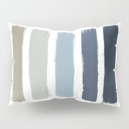 Blue & Taupe Stripes Pillow Sham