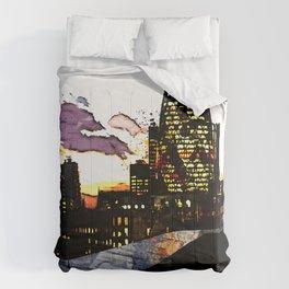 Spiderman in London Comforters