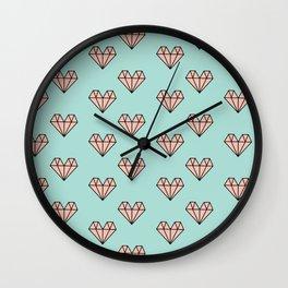 DIAMOND HEARTS Wall Clock