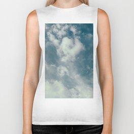 Soft Dreamy Cloudy Sky Biker Tank