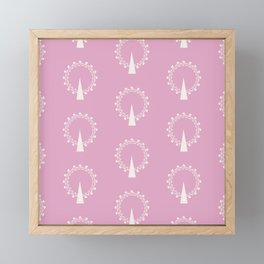 London Eye Pattern Framed Mini Art Print