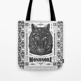 Mononoke Hime Wolf Pride Letterpress Line Work Tote Bag