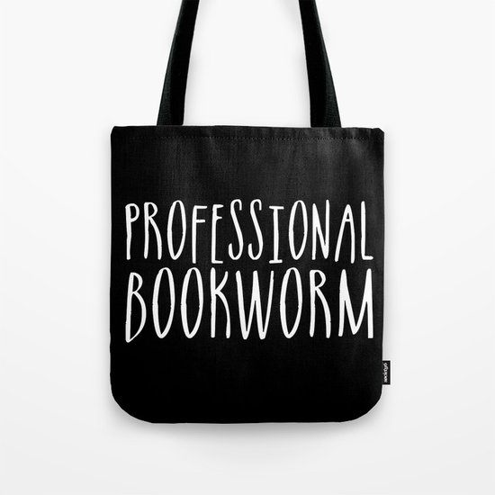 Professional bookworm - Inverted Tote Bag