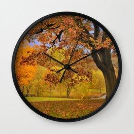 Fall at Larz Anderson Wall Clock