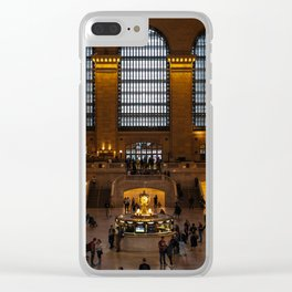 Grand Central Station in New York City Clear iPhone Case