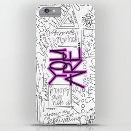 You Are - Fuchsia iPhone Case