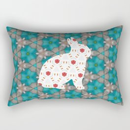 bunny strawberry Rectangular Pillow