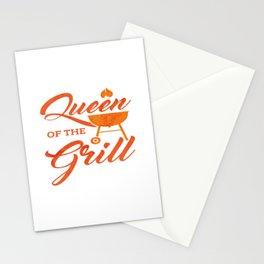 Queen Of The Grill Funny Party Grilling BBQ Gift Stationery Cards