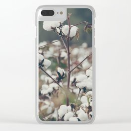 Cotton Field 8 Clear iPhone Case
