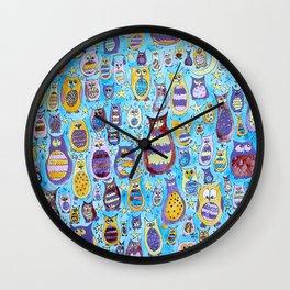 Owl Roosting Wall Clock