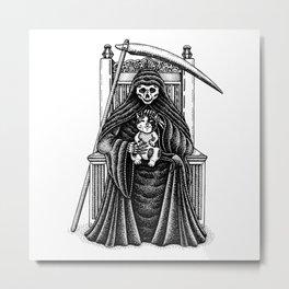 Death's Best Friend Metal Print