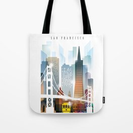 City of San Francisco painting Tote Bag
