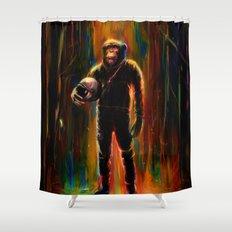 Commander Chimp Shower Curtain