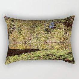 Autumn Oxford Canal Reflections Rectangular Pillow
