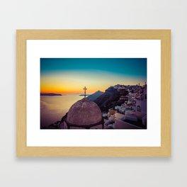 Adorable Santorini Framed Art Print