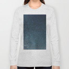 Night sky with shiny stars, Milky Way galaxy Long Sleeve T-shirt