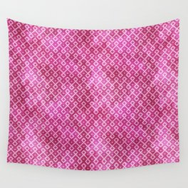 Pink Watercolor & Geometric Pattern Wall Tapestry