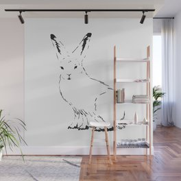 Snow Rabbit Wall Mural