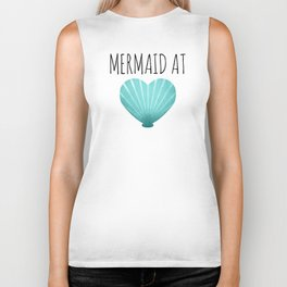 Mermaid At Heart  |  Teal Biker Tank
