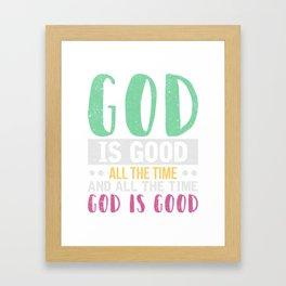 Gott Inspiration T-Shirt Framed Art Print