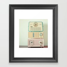 Radio Stations Framed Art Print