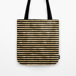 Black and Gold Stripes Tote Bag