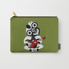 Black and Grey Hei Tiki playing a Ukulele Carry-All Pouch