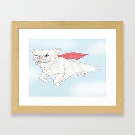 """""""Super Frenchie"""" Framed Art Print"""