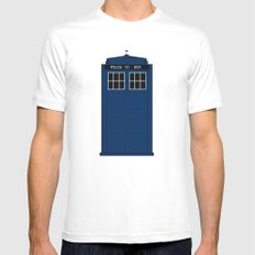 Doctor Who - The Doctor is in.....  MEDIUM White Mens Fitted Tee