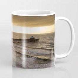 Folly Beach Pier in Gold Coffee Mug