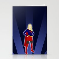 supergirl Stationery Cards featuring Supergirl by livinginamovie